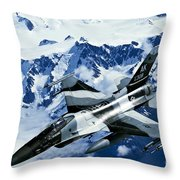 An F-15c Falcon From The 18th Aggressor Throw Pillow