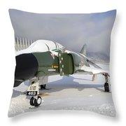 An F-4d Phantom II Aircraft Static Throw Pillow
