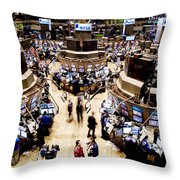 An High Angle View Of The New York Throw Pillow