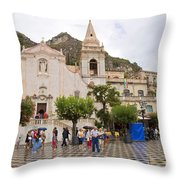 An Iffy Day In Taormina Throw Pillow