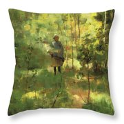An Impression Dans La Sous Bois Throw Pillow