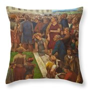 An Incident In Contemporary American Life Throw Pillow