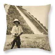 An Informal Portrait Of Photographer Throw Pillow