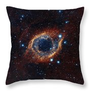 A Look In Infrared At The Helix Nebula Throw Pillow