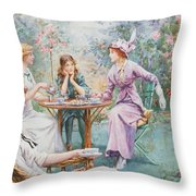 An Interested Audience Throw Pillow