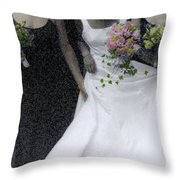 An Intimate Moment At The Wedding Throw Pillow