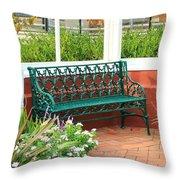 An Inviting Bench Throw Pillow