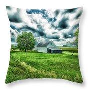 An Iowa Farm Throw Pillow