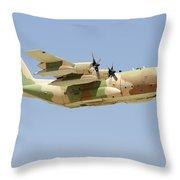 An Israeli Air Force Kc-130h Karnaf Throw Pillow