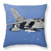 An Italian Air Force Tornado Ids Armed Throw Pillow