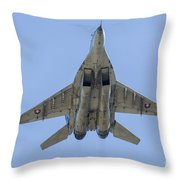 An Mig-29as Fulcrum Of The Slovak Air Throw Pillow
