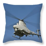 An Mq-8b Fire Scout Unmanned Aerial Throw Pillow