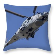 An Nh90 Helicopter Of The French Navy Throw Pillow