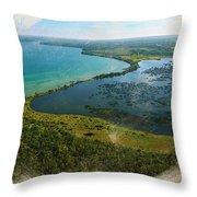 An Oasis On The Prairie Throw Pillow