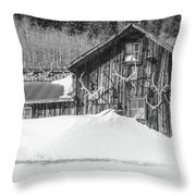 An Obdurate Sinner Lives Here. B And W   Throw Pillow