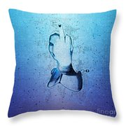 An Obscene Hand Sign Throw Pillow