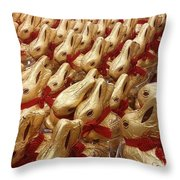 An Ocean Of Bunnies Throw Pillow
