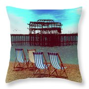 An Ode To Brighton Throw Pillow by Chris Lord
