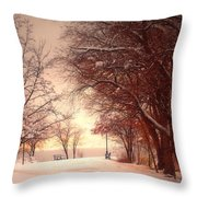 An Okanagan Winter Throw Pillow