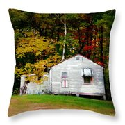 An Old Abandoned House Throw Pillow