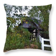 An Old Barn Throw Pillow