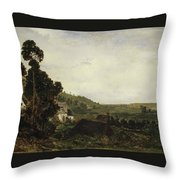 An Old Chapel In A Valley Throw Pillow