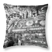 An Old Fashioned Carnival Throw Pillow