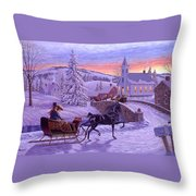 An Old Fashioned Christmas Throw Pillow