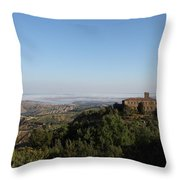 An Old House In The Tuscany Hills Throw Pillow