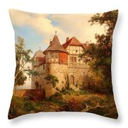 An Old Hunting Lodge Throw Pillow