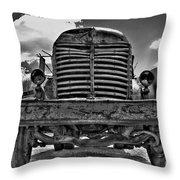 An Old International Truck Throw Pillow