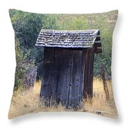 An Old Outhouse  Throw Pillow