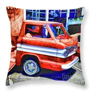 An Old Pickup Truck 2 Throw Pillow