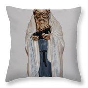 An Old Rabbi Throw Pillow