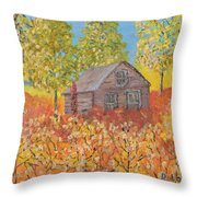 An Old Abandoned Tenant House Throw Pillow
