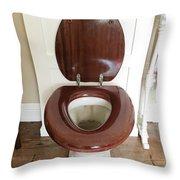 An Old Toilet Throw Pillow