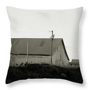 An Old Weathered Barn Throw Pillow