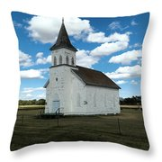 An Old Wooden Church Throw Pillow