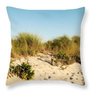 An Opening In The Fence - Jersey Shore Throw Pillow