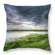 An Ordinary British Sky Throw Pillow