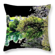 An Umpqua Night Throw Pillow