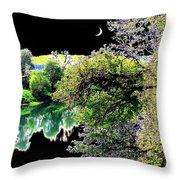 An Umpqua Night Throw Pillow