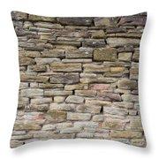 An Uneven Rock/stone/brick Wall Throw Pillow
