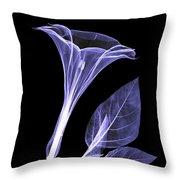 An X-ray Of A Datura Flower Throw Pillow
