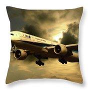 Ana Boeing 773 Ja784a Throw Pillow