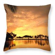Anaehoomalu Bay Sunset Throw Pillow