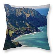Anaga Mountains Throw Pillow