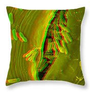 Anaglyph Of Infected Lettuce Leaf Throw Pillow
