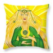 Anahata Heart Chakra Goddess Throw Pillow