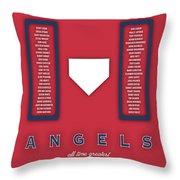 Anaheim Angels Art - Mlb Baseball Wall Print Throw Pillow
